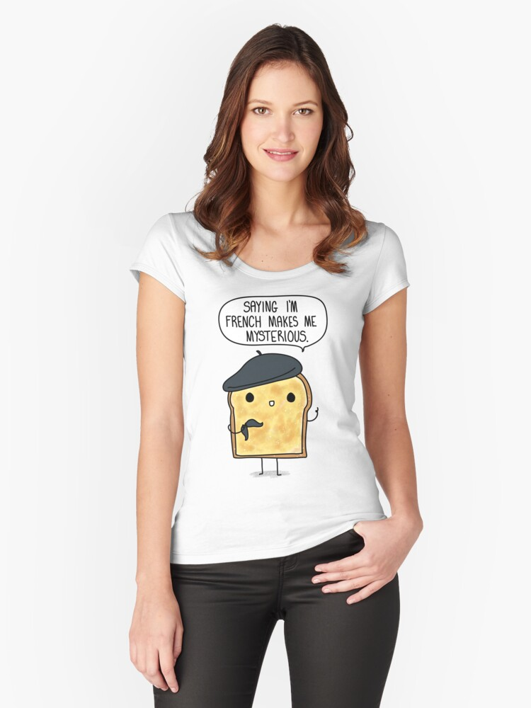 French Toast Women's Fitted Scoop T-Shirt Front