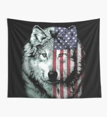American Wolf Wall Tapestry
