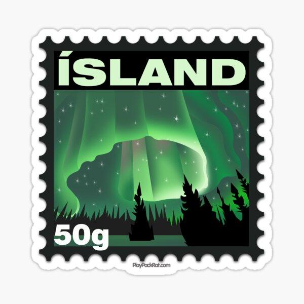 Iceland Stamp Sticker