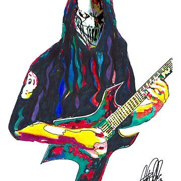 Heavy Metal Design (Mick Thomson) by MixedMedia101