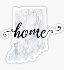 Indiana Home Marble Sticker Sticker
