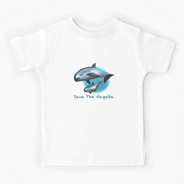 Treacherous Waters - Vaquita Porpoise Art (Copyright 2015) Original Digital Painting by artist Amber Marine  Kids T-Shirt