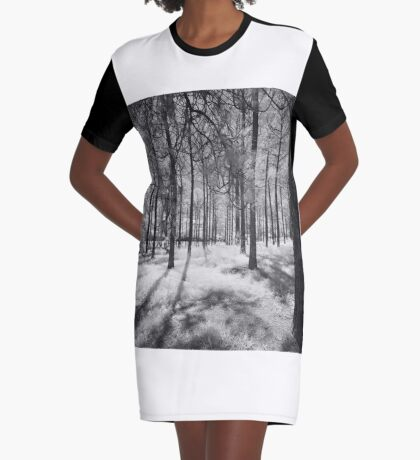 Pine Forest Graphic T-Shirt Dress