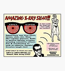 X-ray Vision Comic Book Ad Photographic Print