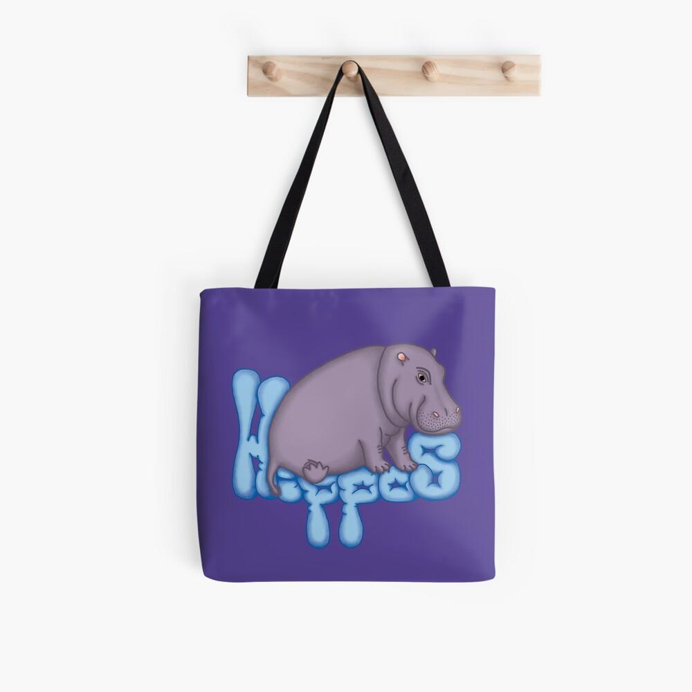 Squashy Hippo - Blue Tote Bag