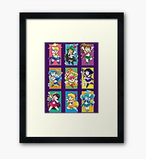 Senshi Blocks Framed Print