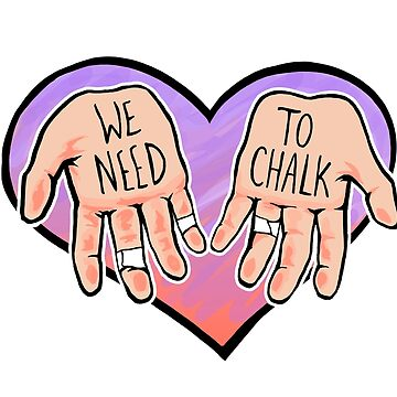 We Need To Chalk <3 (Pink) by TamasinLangton