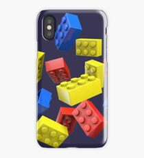 Falling Toy Bricks iPhone Case