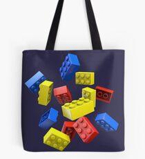 Falling Toy Bricks Tote Bag