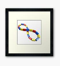 Toy Brick Infinity Framed Print