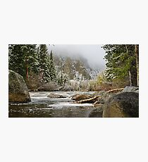 Spring Snow Poudre River N Co. Photographic Print