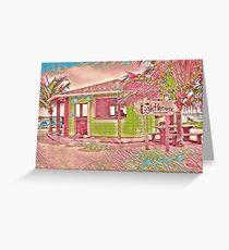 Tropical Beach Bar Greeting Card