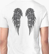 Angel wings Cross design - Grunge effect Unisex T-Shirt