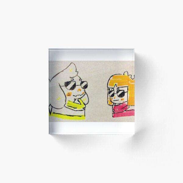 Asriel and Frisk Acrylic Block