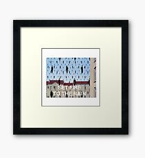 Set Fire to the Rain- Magritte Framed Print