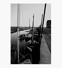 Blakeney Harbour in B&W Photographic Print