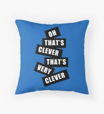 """Clever"" Throw Pillow"
