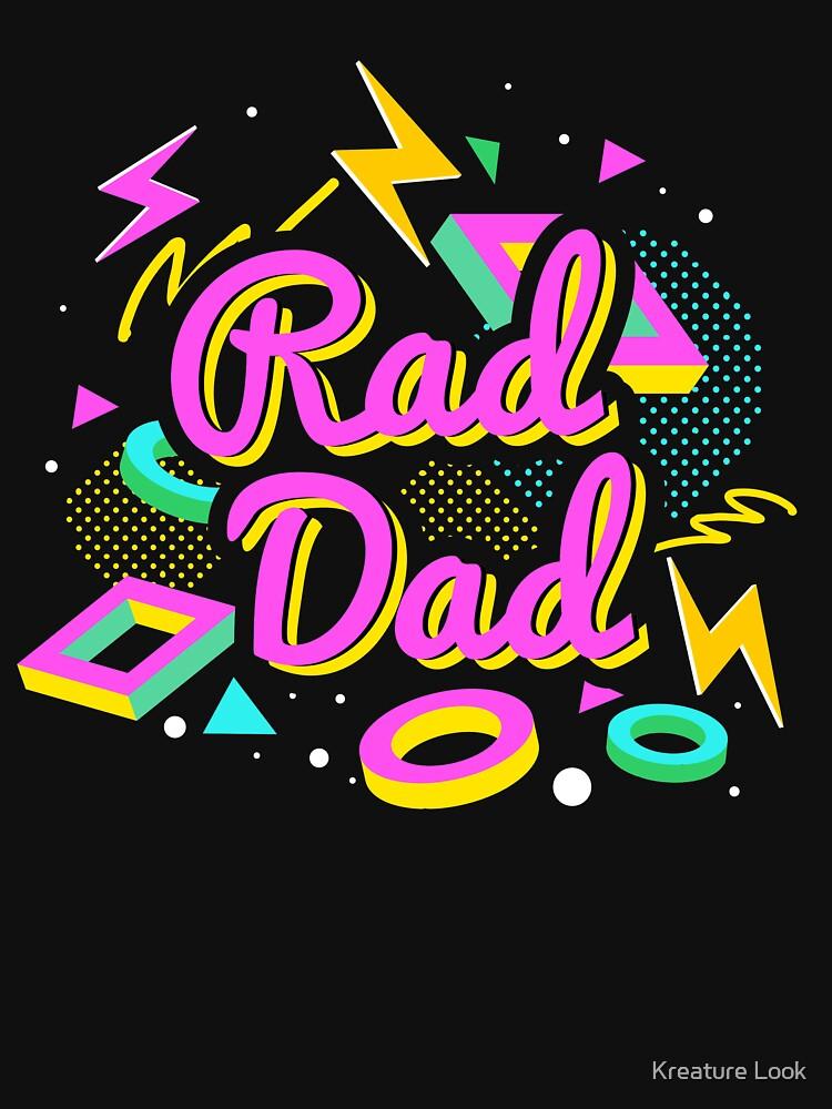 Rad Dad | 80s theme gift | 80s neon tshirt | rad dad shirt | 80s dad | retro graphic tee | eighties party | 80s theme party | retro graphic tshirt  by qtstore12