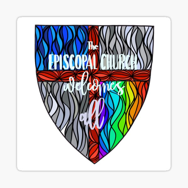 Episcopal Shield  Pride 3 Sticker