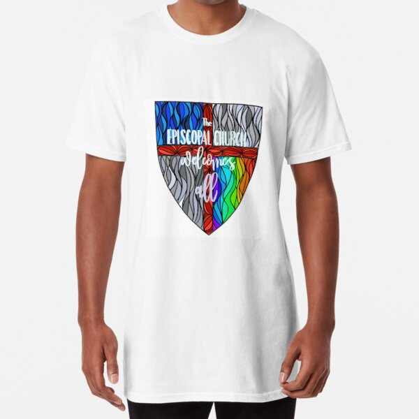 Episcopal Shield  Pride 3 Long T-Shirt