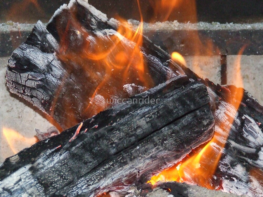 Flames to warm a cold winters night by wiccanrider