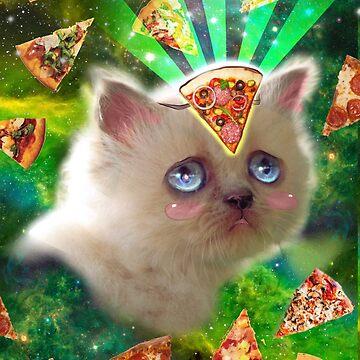 Pizza cat by Artgenevieve
