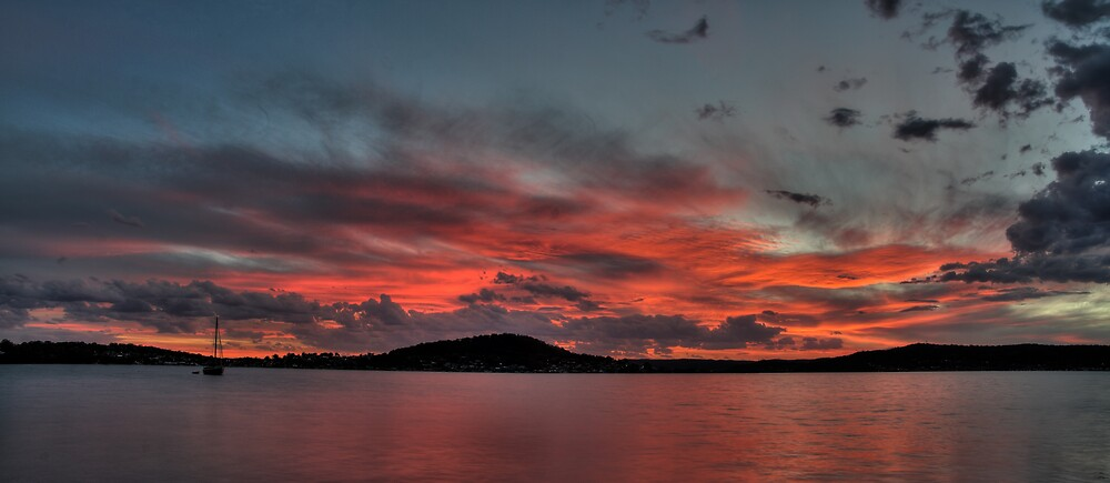 Brisbane Water Sunset by Mike Salway