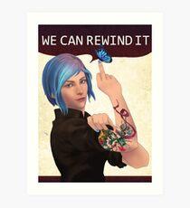 WE CAN REWIND IT Art Print