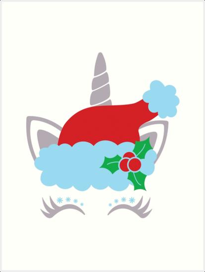 4837a4b2c4178 Unicorn face with eyelashes - Christmas Design