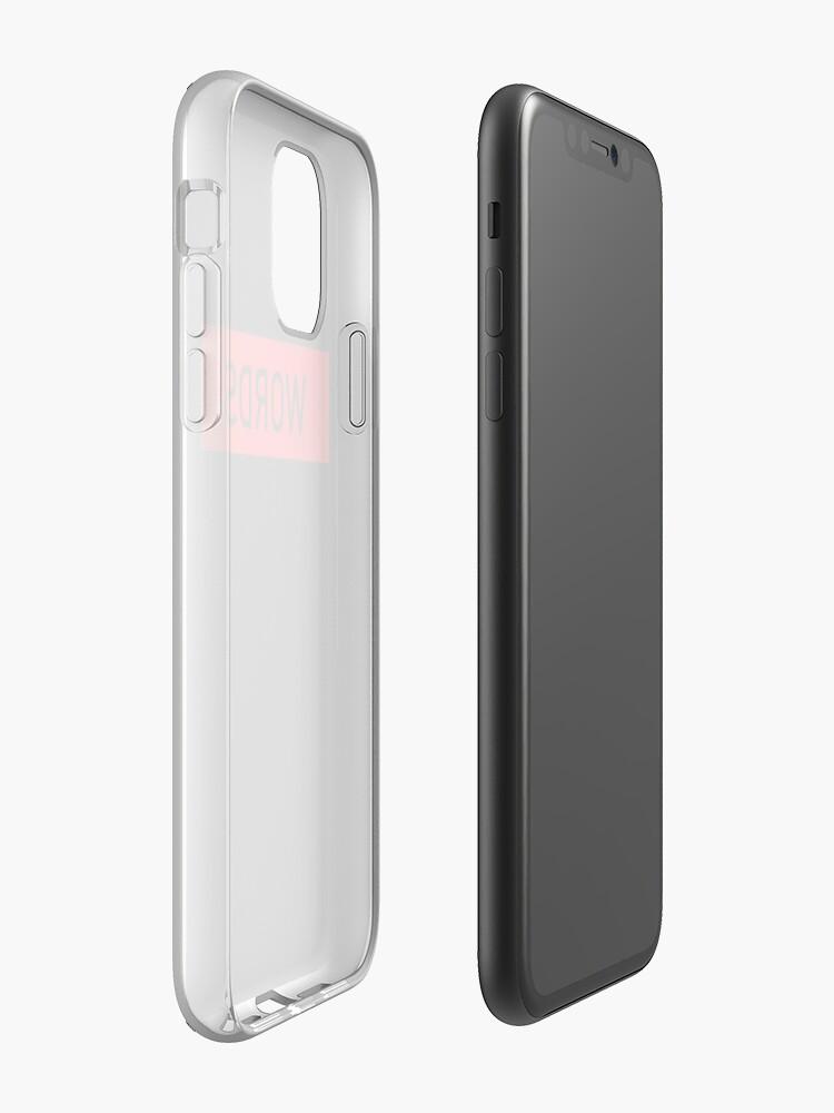 Coque iPhone «Box Logo Mots Conception», par hypeking