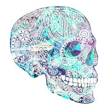 Cráneo azul reflectante de adjsr