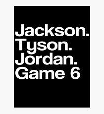Jay-Z - Tyson, Jackson, Jordanien - Spiel 6. Fotodruck