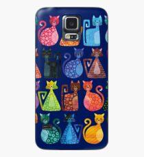 Geometricats - Helle Farben Hülle & Klebefolie für Samsung Galaxy