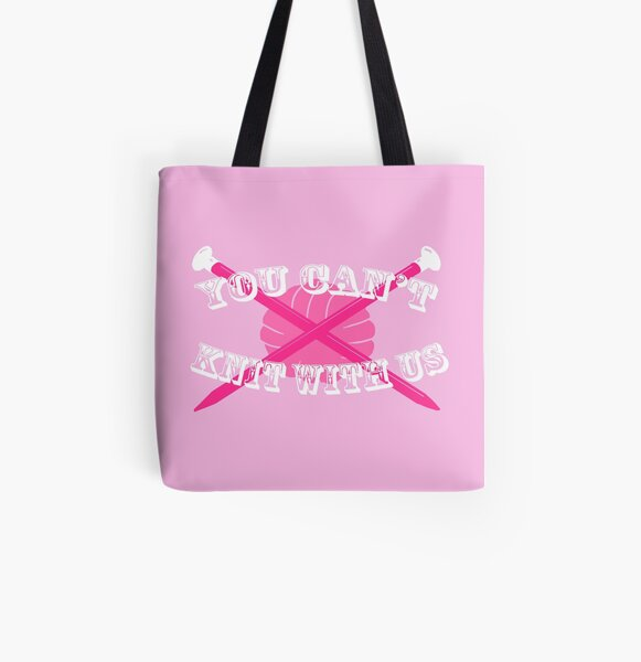 Mean Purls All Over Print Tote Bag