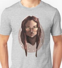 Lady with Glasses - Digital Painting  Unisex T-Shirt