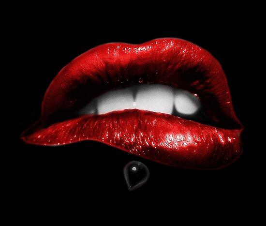 Metallische Lippen (Schwarz) von HDesires