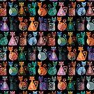 « Geometricats - Dark Colours » par Hippopottermiss