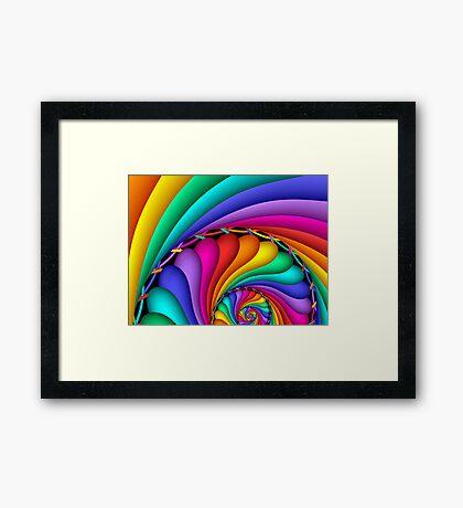 Rainbow Stitchery Framed Print