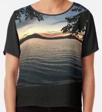 Lakeshore Sunset Chiffon Top