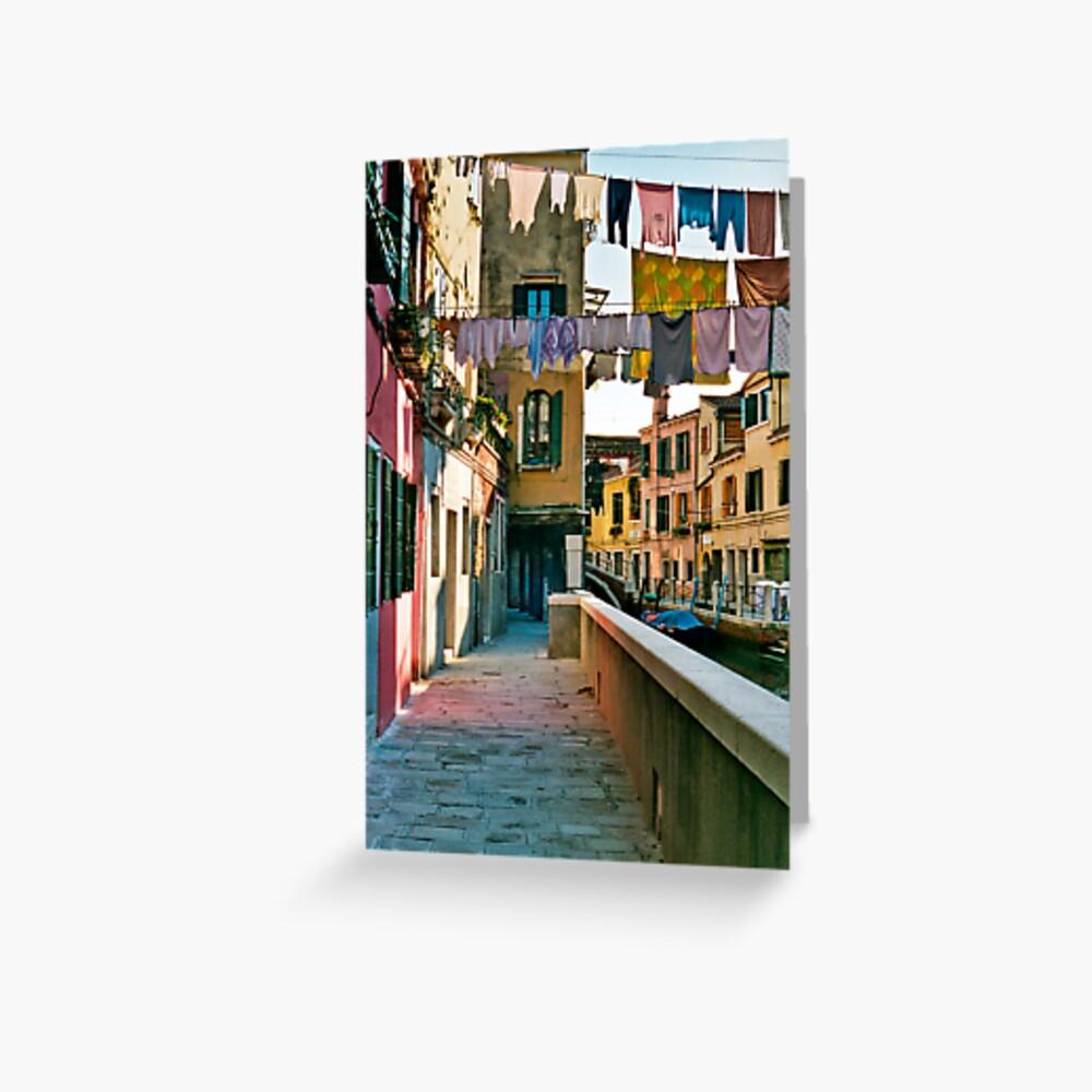 Washing in Venice 2 Greeting Card