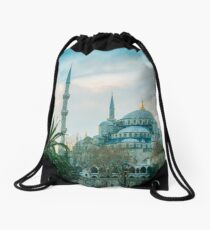 Blue Mosque, Sultan Ahmed Mosque, Istanbul, Turkey Drawstring Bag