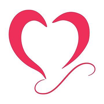 Heart t-shirt by hebron