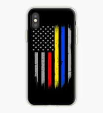 Polizei Feuer Dispatcher Flagge iPhone-Hülle & Cover