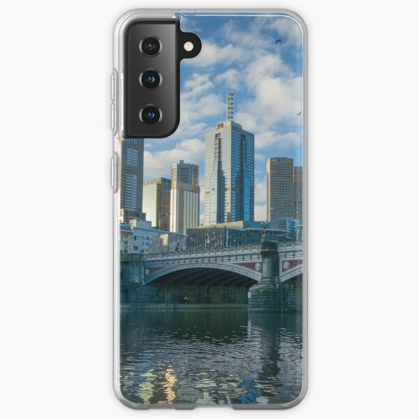 Melbourne CBD, Princes Bridge, Australia Samsung Galaxy Soft Case