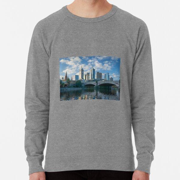Melbourne CBD, Princes Bridge, Australia Lightweight Sweatshirt