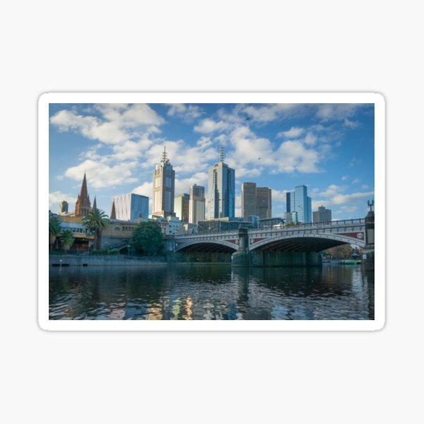 Melbourne CBD, Princes Bridge, Australia Sticker