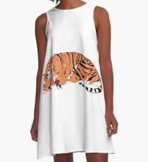 Hobbes and Calvin A-Line Dress