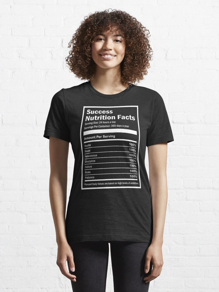 Alternate view of Entrepreneur Success Nutrition Facts Essential T-Shirt