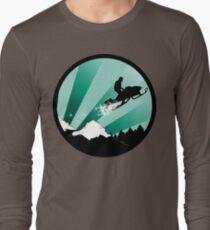 snowmobile : powder trail Long Sleeve T-Shirt