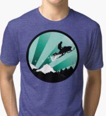 snowmobile : powder trail Tri-blend T-Shirt